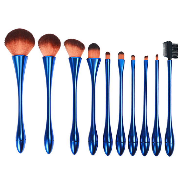<strong>High</strong> <strong>quality</strong> <strong>makeup</strong> <strong>brush</strong> 10pcs colorful slim waist <strong>makeup</strong> <strong>brushes</strong> set for facial cosmetic