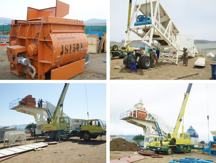 YHZS75 Automatic ready mix mobile 75m3/h concrete mixing
