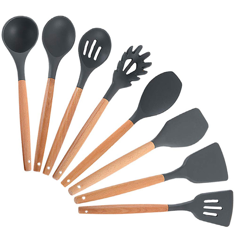 Non-Stick Silicone Kitchen Utensil Set 8 Piece heat resistant Cooking Tools Silicone baking Utensils