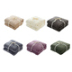 Customized Design Luxury Knitted Flannel Velvet Plush Throw Blanket