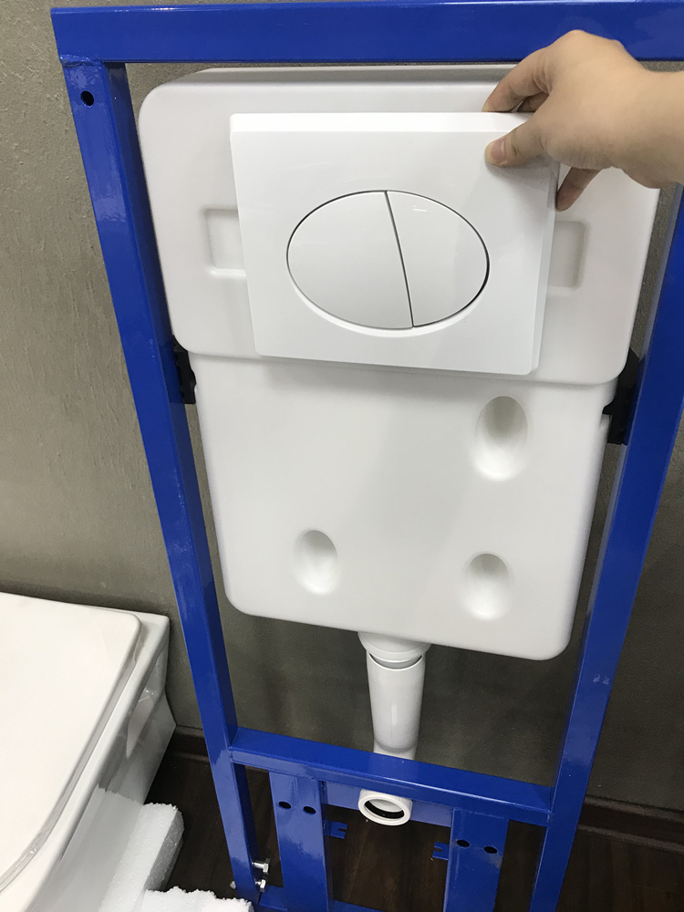 Bathroom concealed cistern for wall hung toilet
