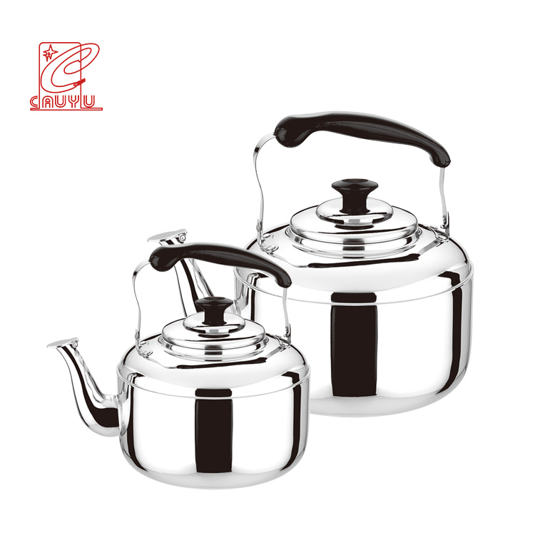 Wholesale Non-Electric Stainless Steel Whistling Tea Kettle With Flat Bottom