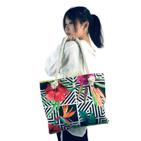 custom canvas rope handle wholesale beach bag woman summer tote bags