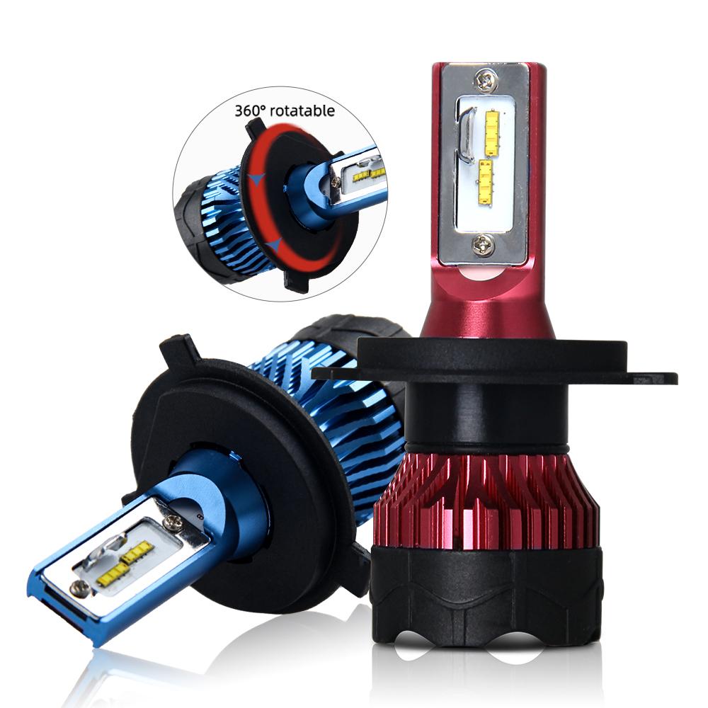 2020 Sistema de Iluminação Auto H7 H4 8000lm led, auto H7 9005 9006 H8 H11 H7 H4 c6 Levou Lâmpadas Dos Faróis Do Carro