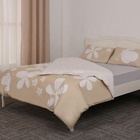 Vanilla floral printed 100% cotton customized bed quilt duvet cover set