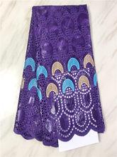 2020 чистый фиолетовый Африканский Базен Riche ткань с камнями последние дешевые базин с вышивкой и кружевом ткань для мужчин и женщин платье ...(Китай)