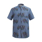 Hight stree factory wholesale cotton printed oxford casual man shirts with chest pocket