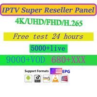 IPTV Reseller panel German French Romania UK free test Arabic Premium Spain 4K FULL HD UHD H.265 FHD Best stable IPTV