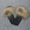 Black raccoon fur