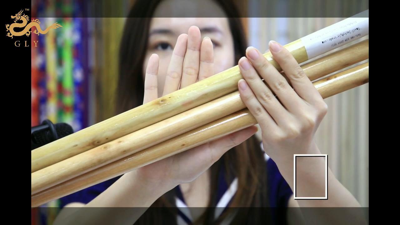 GLY Escobas Machine Making Varnished Wooden Stick Broom