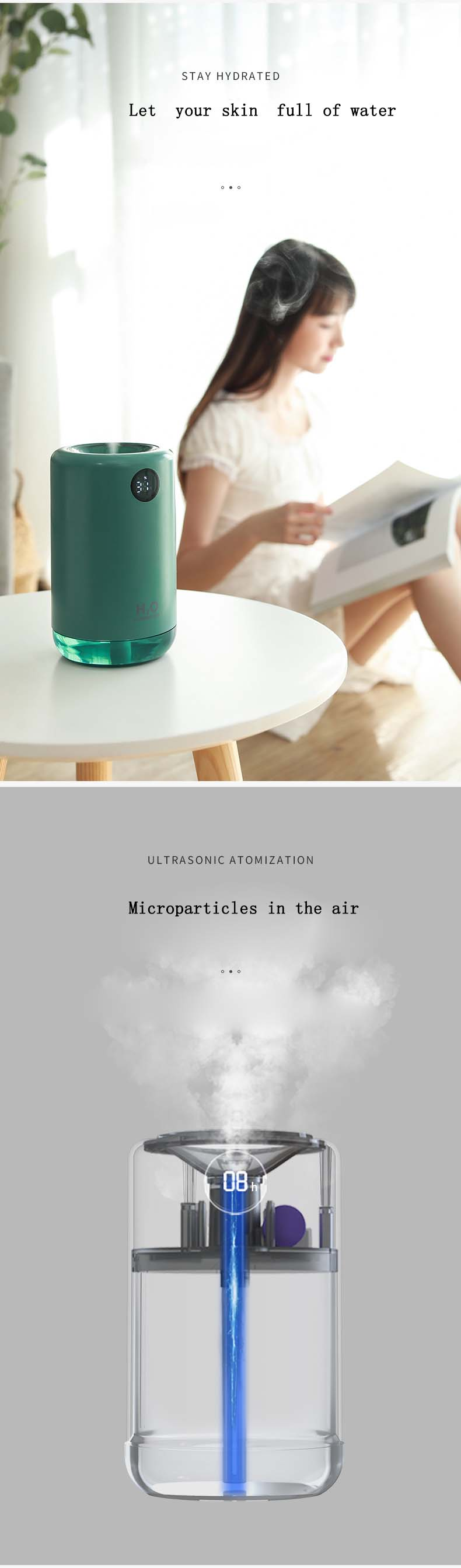 2020 Amazon Newest Best selling New Products Factory Price Air Ultrasonic Working  Mini Usb Car Portable Humidifier