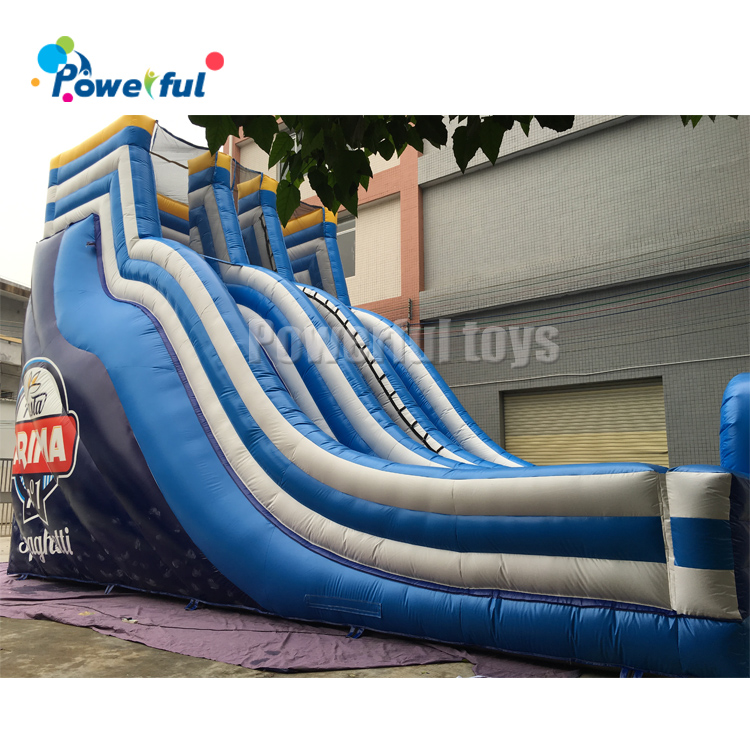 Kids outdoor playground inflatable bouncy house with slide