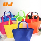 Promotional eco-friendly recycled handled non woven shopping bag with custom logos