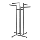 Iron show stand fixtures metal nickle plating 4 ways boutique display rack for bra underwear