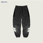 EXP Fashion New Arrivals Men Reflective Joggers Hip Hop Loose Pocket Stitching Pants