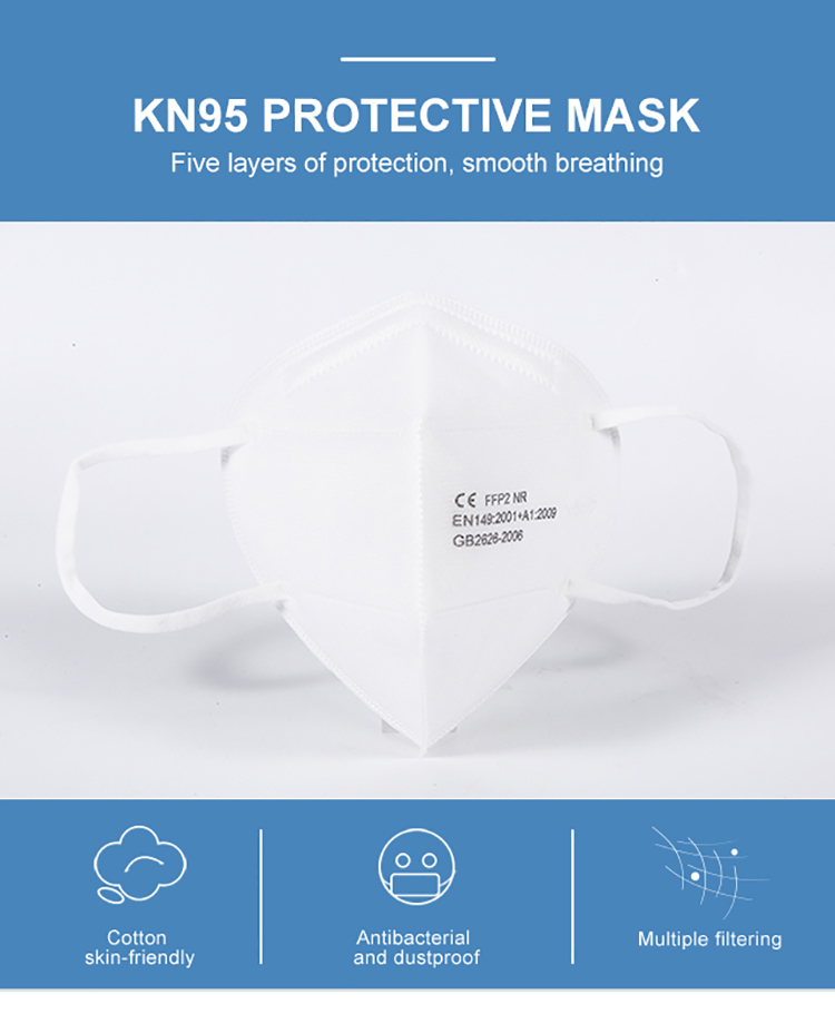 Kn95 Face Mask in Stock High Quality 5 Ply Disposable Mouth Mask Custom - KingCare | KingCare.net