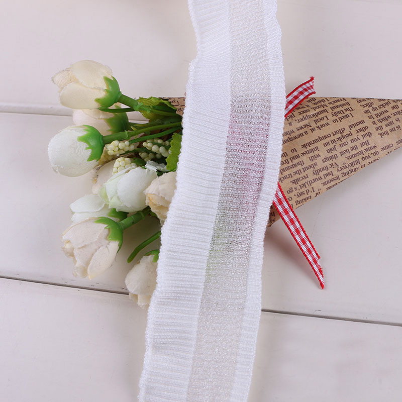Spring and summer new color ribbed hollow thread braided cuff neckline hem hem lace closure decoration DIY