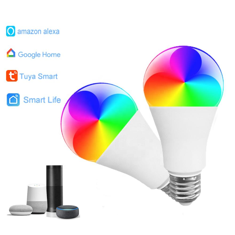 9W Smart LED Bulb Compatible with Alexa and Google Home Remote Control RGB E26/E27 WiFi smart light bulb
