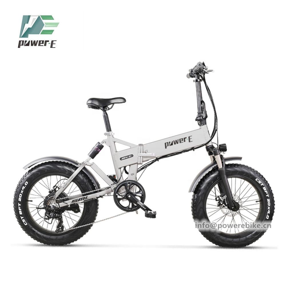 Новый 20 Дюймов 4,0 Fat E велосипед 48V 12.8Ah Скрытая батарея складной электрический велосипед 48V 500W 750W складной электрический велосипед