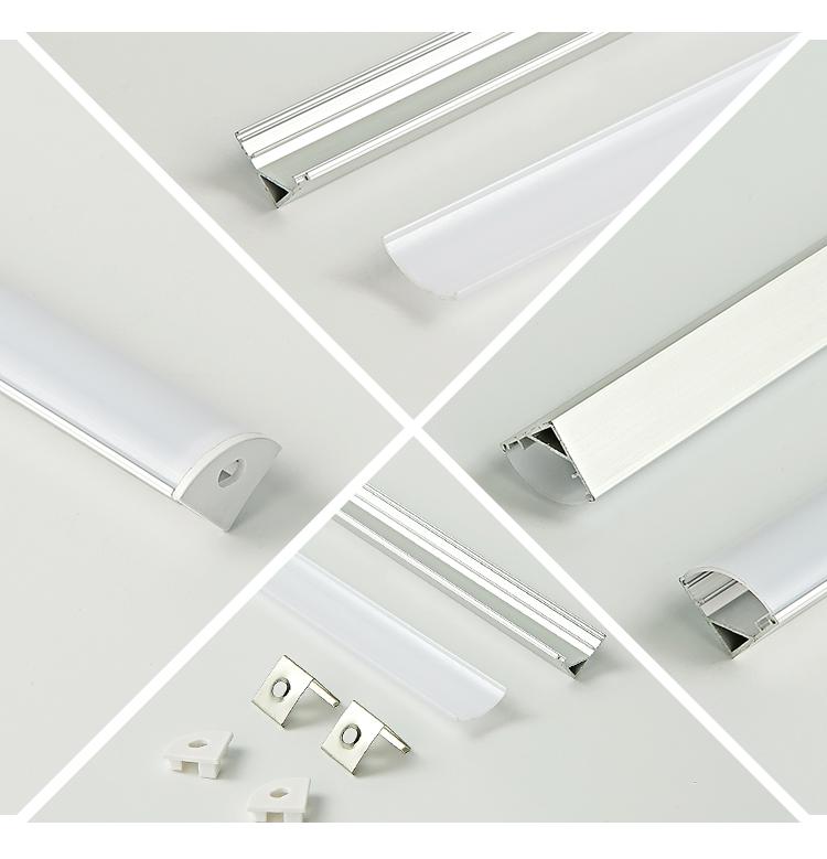 aluminum extruded profile,1 Meter, Silver white black