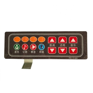 Design stylish multi color single embossing button diy membrane switch