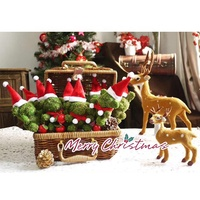 Happy New Year Moss Animals Christmas Garland Decoration Home Decor