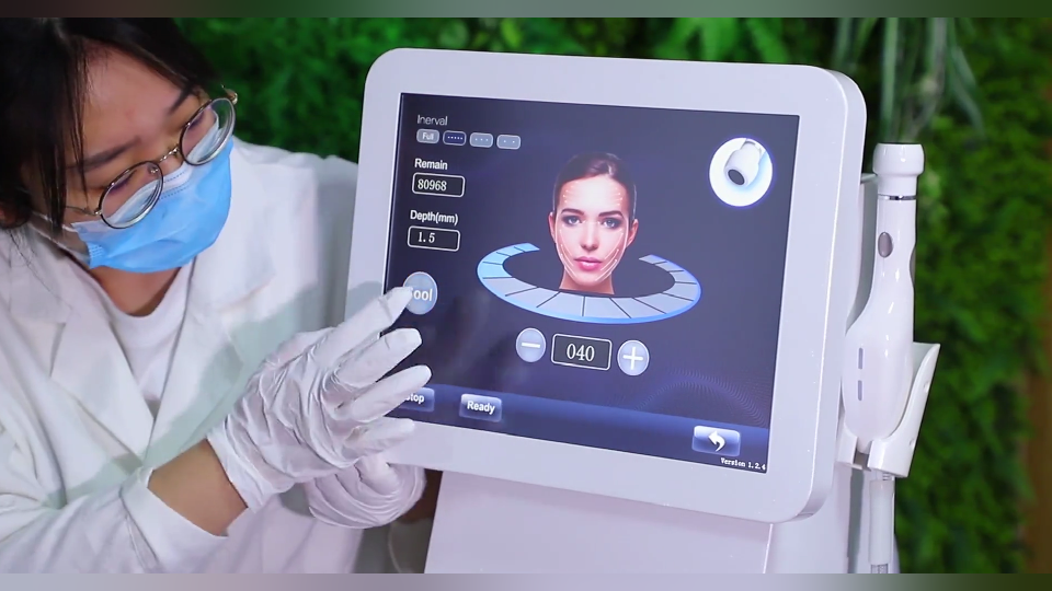 2020 Cool hifu 4d machine v-max transducer ultrasound wrinkle removal vmax hifu 3d portatil body face skin lifting machine