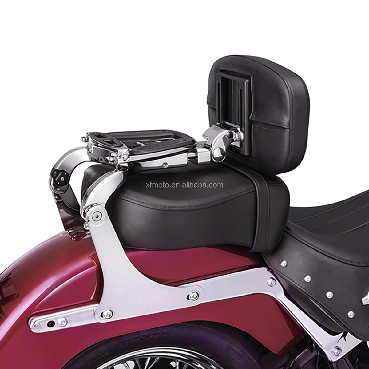 Adjustable Driver Rider Seat Backrest Fit for Heritage Softail Classic FLSTC