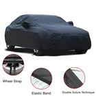 Best price premium anti theft foldable PEVA 190T polyester reusable customized winter car cover