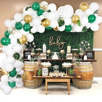Wedding Supplies 118 Pcs Party Birthday Balloons Decorations Balloon Garland Arch Kit With Artificial Palm Leaves