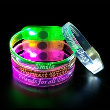 Custom Party Licht Slap Muziek Sound Activated LED Armband Voor <span class=keywords><strong>Evenementen</strong></span>