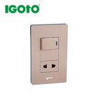 Mixto interruptor + toma 2P+E American socket with switch