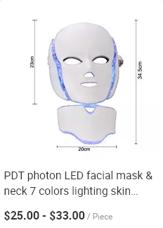 PDT 4 color lights led photon therapy facial mask for anti-aging is neck face skin rejuvenation therapy