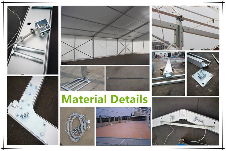 אלומיניום מבנה אוהל חניה עם PVC כיסוי שכבה כפולה אוהל