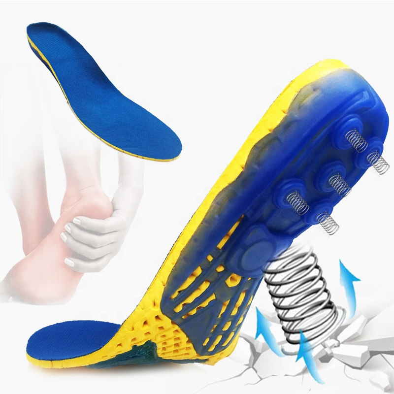 High Quality Breathable Arch Supporting Shoe Pads Shock Absorbing EVA Cushion Sports Spring Insole
