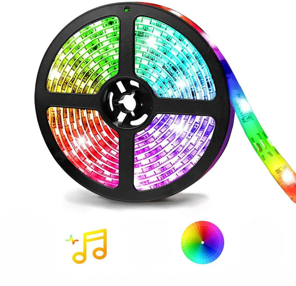RGB LED Tape Strip Flexible Lights with Remote Bedroom Home Kitchen TV Party Desk Room 32.8ft 300 smd 5050 led strips lights