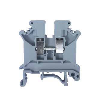 Busbar quick connect fire resistant plastic feed through wireelectric copper screw clamp din rail connector terminal block
