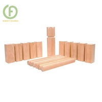 Wooden Kubb Game Outdoor Viking Chess Game Throwing Game For Families