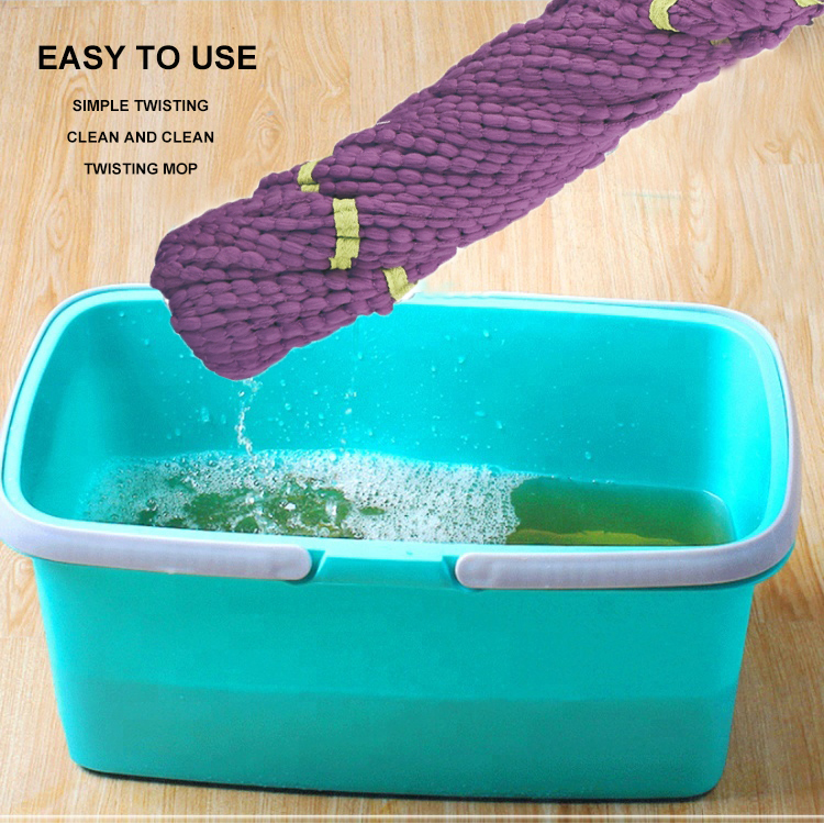 New Style 123*8cm Good Quality Household Magic Mop Floor Cleaning Microfiber Twist Spin Go Mop