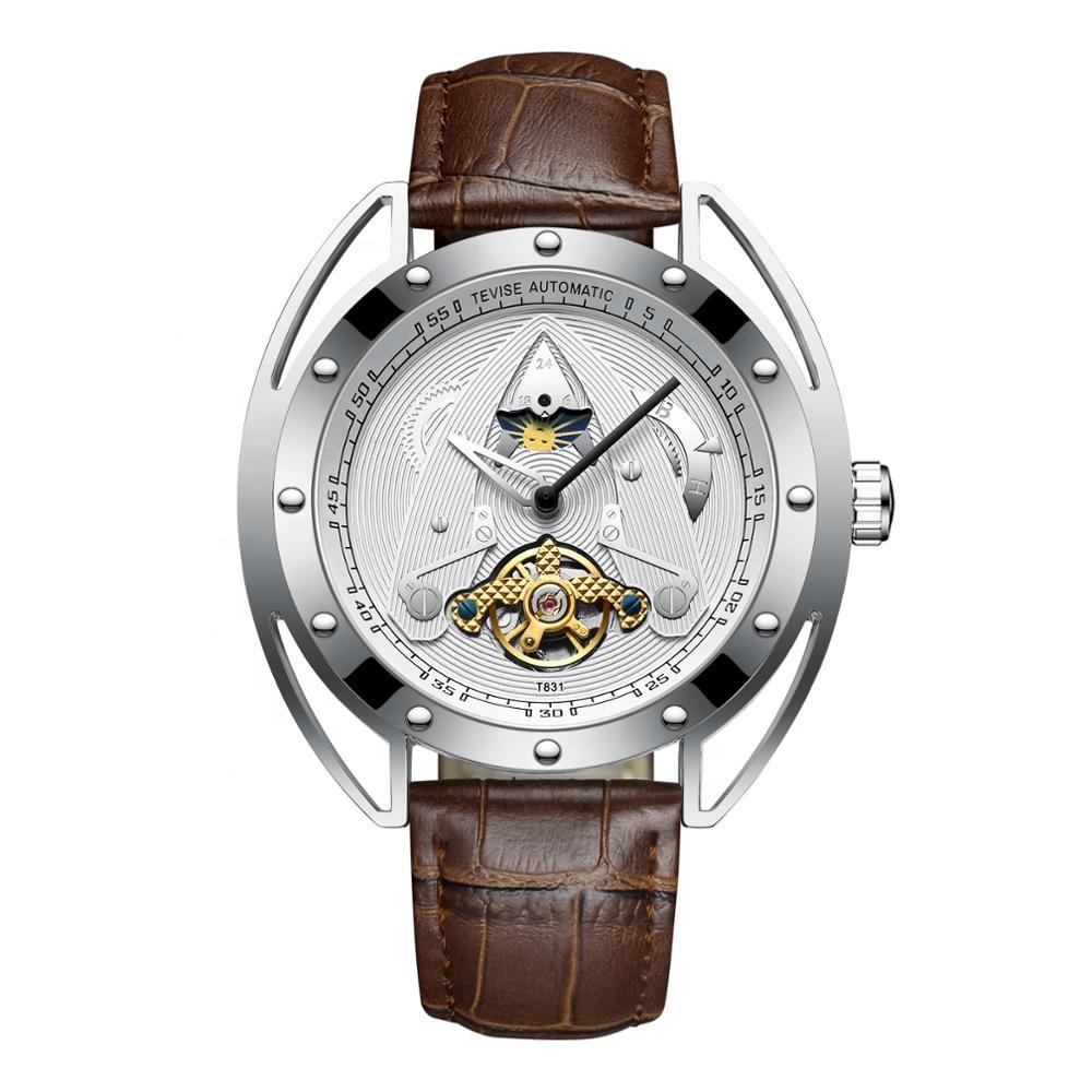 mechanical watch made in prc fashion unique design men automatic wristwatches tourbillon