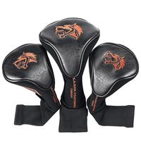Factory Offer Golf Club Headcover Driver PU Leather Wooden Head covers High Quality Custom Head Cover Golf