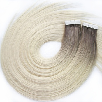 Wholesale human hair extension double drawn 100 remy human natural hair color tape hair extension