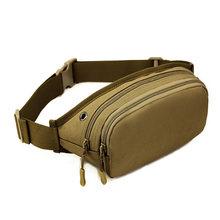 Горячая Водонепроницаемая холщовая поясная сумка для мужчин и женщин, высокое качество, спортивные, поясные сумки, Тактическая Военная арм...(Китай)
