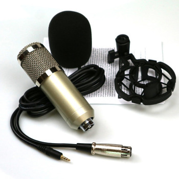Professional BM800 recording condenser microphone For Video Studio Recording With Metal Shock Mount
