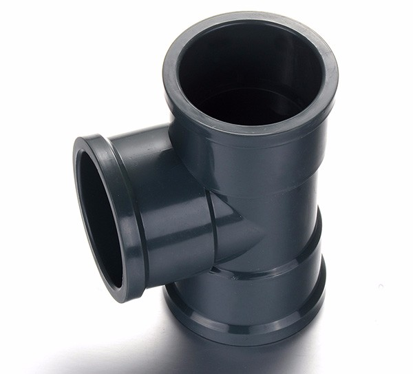 Dark grey color 110*90mm PVC Reducing Tee DIN STANDARD PN10 PVC Pipe <strong>Fitting</strong>