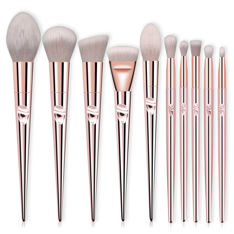 Wholesale-10-pcs-Rose-Gold-Makeup-Brushe