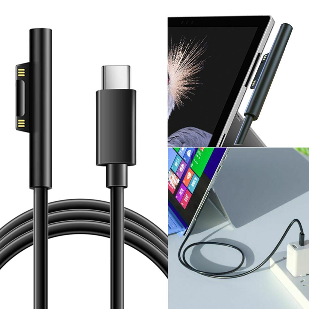 USB C Charging Cable 15V PD Charge For Microsoft Surface Pro 6/5/4/3, Surface Book 2/1, Surface Laptop 2/1