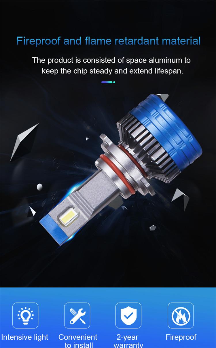סופר בהירות 15000 לום K11 אוטומטי רכב led פנס H4