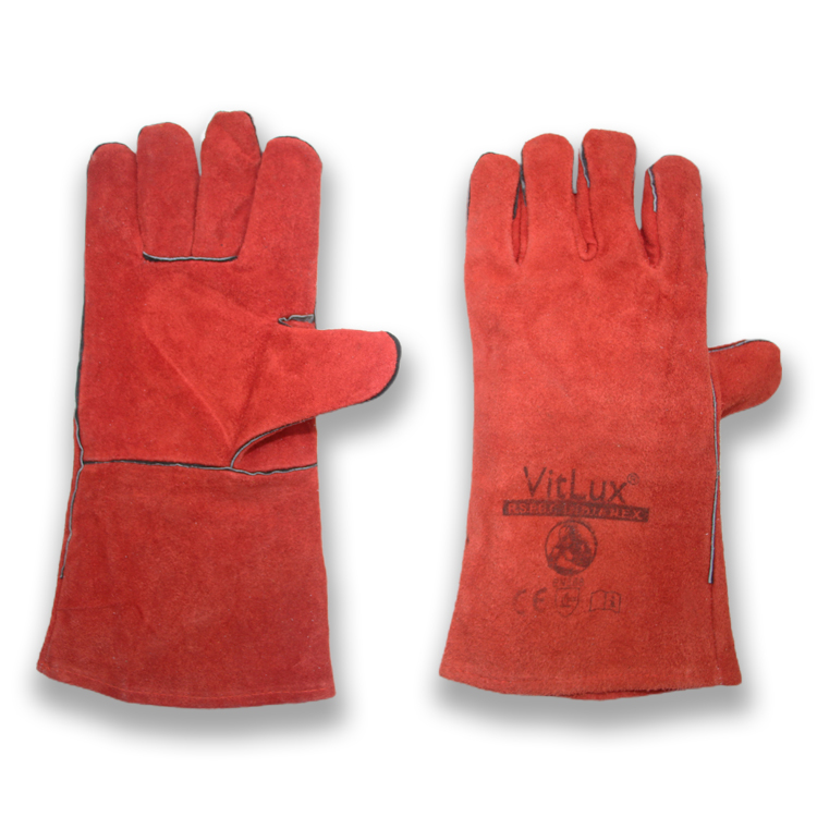 Long cow split leather hand protection safety gloves for welding work