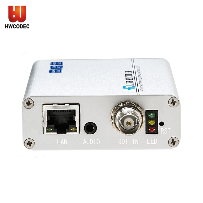 Haiwei H8115 H264 H265 HD SDI To RJ45 Ethernet Video Audio h.265 encoder SDI Over IP Support RTSP UDP/ RTP Multicast